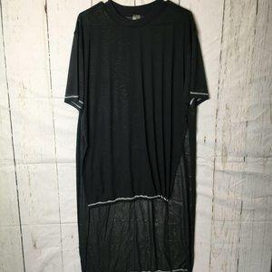 asos Womens Cover Up Side Slit Black L NWOT